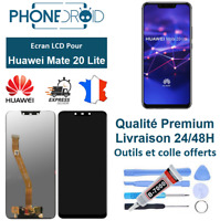 Écran complet LCD + vitre tactile Huawei Mate 20 Lite Black + Outils, stock FR