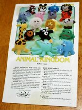 Annie's Pattern Club: Animal Kingdom by Rise Cleary Crochet Leaflet #87G38 Guc