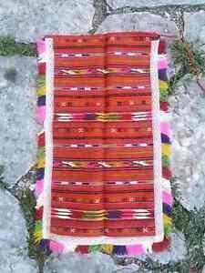 Handmade, woven wool antique apron, part of Debarski Drimkol ethnic costume