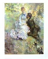 Pierre Auguste Renoir Idyll Liebende 1875 Poster Kunstdruck Bild 72x57cm