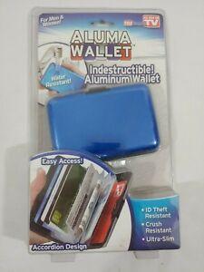 Aluma Wallet Indestructible Aluminum Wallet, Water Proof, ID Theft Proof, NEW