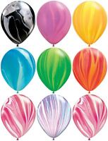 "Qualatex 12"" SuperAgate Marble Rainbow Latex Balloons Party Wedding Decoration"
