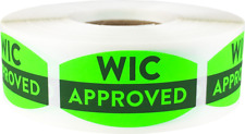 Wic Approved Grocery Market Stickers, 0.75 x 1.375 Inches, 500 Labels on a Roll