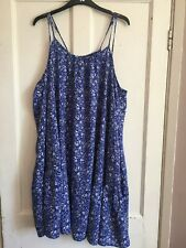 Ladies Blue Sea Print Sleeveless Smock Dress from Marks & Spencer Size 16