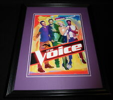The Voice 2014 NBC Framed 11x14 ORIGINAL Advertisement Adam Levine B Shelton