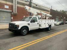 2008 Ford F-350 Bucket truck / Boom truck, 132K cummins onan generator versalift