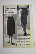 """"""" FEMMES D'AUJOURD'HUI """" PATRON SUPPL. N°38 // JUPE MODE POUR LES RONDES 46 & 50"""