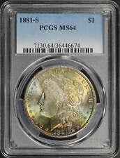 1881-S Morgan Dollar PCGS MS-64 Rainbow!