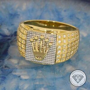 Wert 1.700,- Sensationeller Unisex Kronen Ring 585 / 14 Karat Gold Bicolor xxyy