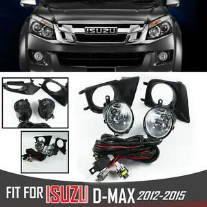 Fog Spot Driving Light Lamp Complete Kit Fit Isuzu D-Max Dmax Holden Rodeo 12-15