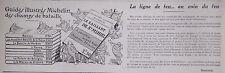 PUBLICITÉ 1919 MICHELIN DES CHAMPS DE BATAILLE - BIBENDUM - ADVERTISING