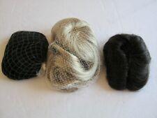 3 pcs Doll Wigs Size 9-10 Global Blond Black Dark Brown Modacrylic
