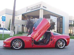 """2006 2007 2008 2009 - 2013 Chevrolet Corvette """"C6"""" VDI Bolt On lambo door kit"""