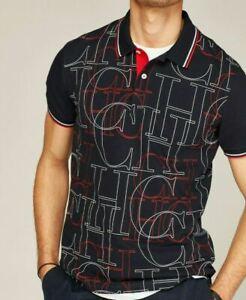 "Men´s Carolina Herrera Short Sleeved Polo Shirt ""Initials"" model  - Size L"