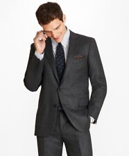NEW Brooks Brothers Regent Fit Stretch Flannel 1818 Suit, Gray, 38S, NEW