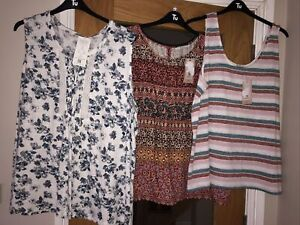 Ladies sleeveless Top Bundle Size 24 Clothes Bundle. NEW WITH TAGS . RRP £29