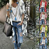 Women's Summer Casual Loose Kimono Cardigan 3/4 Sleeve Floral Chiffon Capes