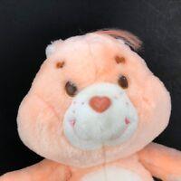 "Vintage 1980s Kenner Care Bears Orange Flower Friend Bear 12"" Plush Stuffed Toy"