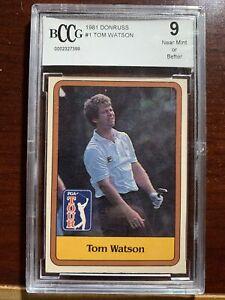 1981 Donruss Golf TOM WATSON RC Rookie Card #1 - BCCG 9 Near Mint Or Better