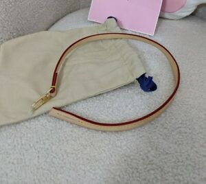 MADE TO ORDER Handmade Vachetta leather Strap For Pochette Accessories NM / Mini