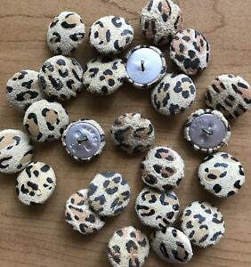 """24 3/4"""" Suede /  Leather Animal Print Buttons Metal Shank Sewing Craft New Stock"""