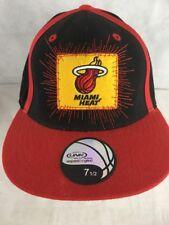 MIAMI HEAT NBA Baseball Black Red Yellow Hat Cap Size 7 1/2  Acrylic/Wool