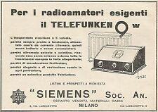 Z0823 Telefunken 9 w per i radioamatori esigenti - Pubblicità del 1929 - Advert.