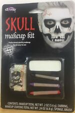 Fun World SKULL MAKEUP KIT w/ Skull Earring - New In Package