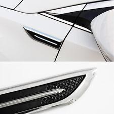 Car Side Blade Style Air Intake Flow Vent Fender Cover for Mendeo Chrome #V619