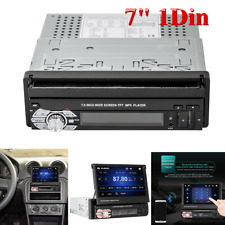 """Single 1Din Flip Car Stereo Radio 7"""" Touch Screen MP5 Player Android Mirror Link"""