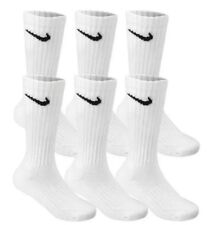 Nike Men's Crew Socks Athletic Cushioned Performance 3-Pack White 8-12 👍👍💯