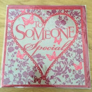 Someone Special Valentine's Day Greeting Card Heart Butterfly Flower *NEW* (980)