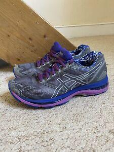 ASICS Gel Nimbus 19 Trainers/Shoes Silver/Purple UK Sz. 6.5