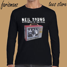 Neil Young Promise of The Real Rebels Men's Long Sleeve Black T-Shirt Size S-3XL