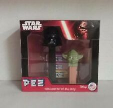 Disney STAR WARS Pez Dispenser *DARTH VADER*  *YODA* Set NIB Collectors Free S/H