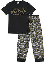 Mens Star Wars Pyjama Set T-Shirt Lounge Bottoms Pants Pjs Gift Nightwear Gift