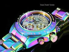 Invicta 40mm Pro Diver Speedway Quartz Chrono Platinum MOP Dial IRIDESCENT Watch