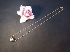 Silberkette Collier Silber 925 vergoldet Swarovski  Kette 45 cm