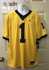 finest selection fe34b e5ed9 Nike Michigan Wolverines Air Jordan Stitched  1 Sz XL Football Jersey