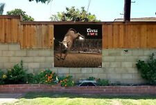 Coors Banquet Rodeo Cowboy beer bull banner party Backdrop sign poster Prca Pbr