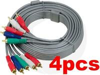 HDTV Video Audio 5RCA Plugs Component RCA AV Gold Plated HD Cable (10FT) 3Meters