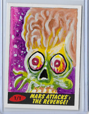 2017 TOPPS MARS ATTACKS THE REVENGE SKETCH CARD BY CHAD SCHERES 1/1
