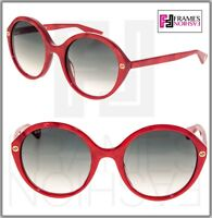 GUCCI 0023 Oversized Round Red Pearl Gradient Sunglasses GG0023S Women Authentic