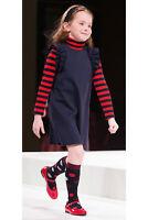 IL GUFO Kleid aus Milanojersey m. Rüschen navyblau Gr.6/116 und 8/128 NEU %SALE%