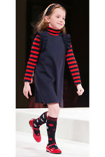 IL GUFO Kleid aus Milanojersey mit Rüschen navyblau Gr.116-152 NEU %SALE%