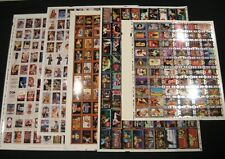 Coca Cola Set of 5 Uncut Sheets - Series 1,2,4,Super Premium,SOGT, NEW 1993-1996