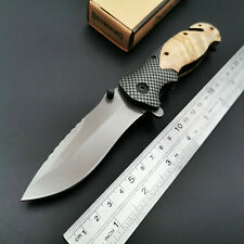 X50 Folding Knife Wood Handle 440C Blade Tactical Rescue Pocket Knives EDC Tools