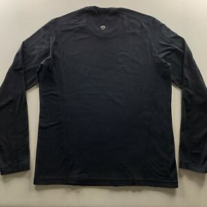 Men's Lululemon Activewear Athliesure Logo Long Sleeve Shirt Black Size Large