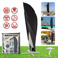 Large Parasol Banana Cantilever Umbrella Cover Patio Garden Outdoor Weatherproof