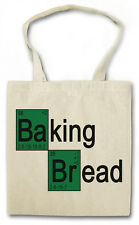 BAKING BREAD COTTON BAG - Jutebeutel Stoffbeutel - Breaking Bäcker Konditor Bad